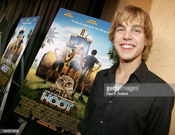Cody Linley one of the stars in the movie 'Hoot' during 'Hoot' Fort Lauderdale Premiere Arrivals at Sunrise Cinema Las Olas Theatre in Fort...
