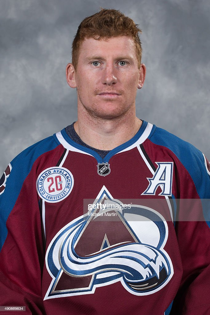 Cody McLeod of the Colorado Avalanche poses for his official headshot for the 20152016 NHL season on September 17 2015 at the Pepsi Center in Denver...