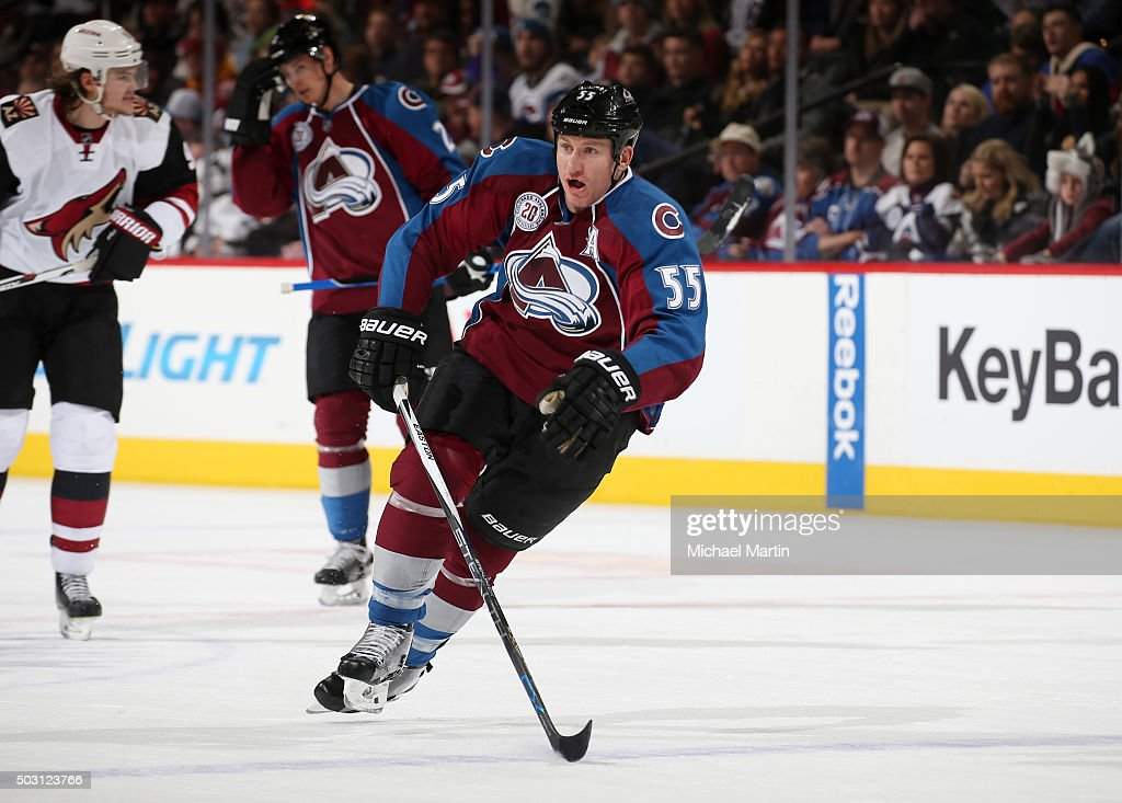 Cody McLeod of the Colorado Avalanche skates against the Arizona Coyotes at the Pepsi Center on December 27 2015 in Denver Colorado