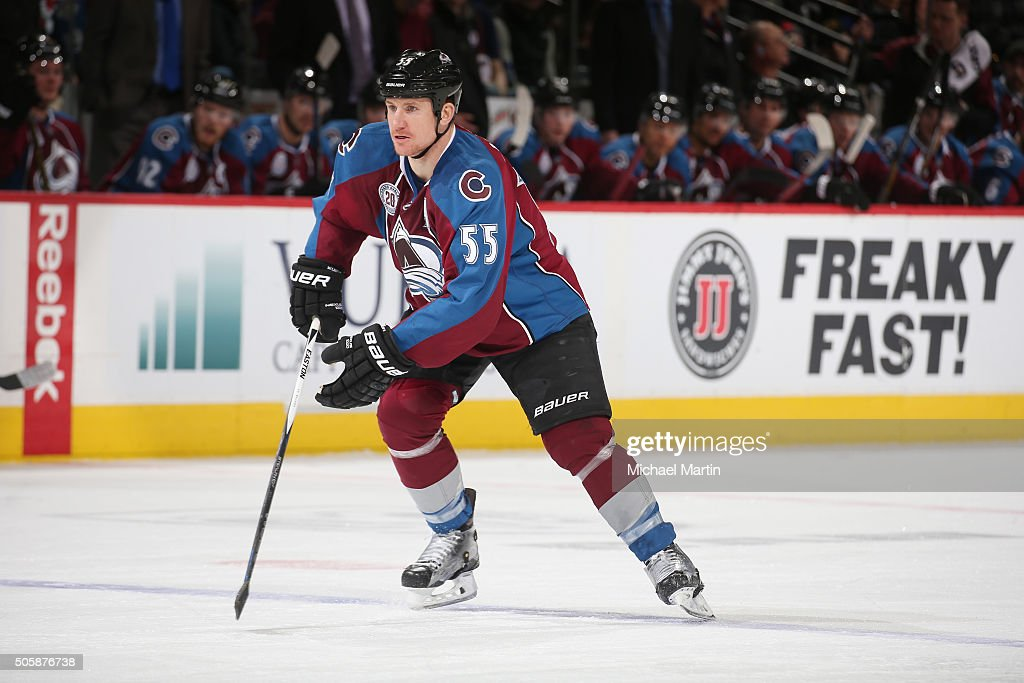Cody McLeod of the Colorado Avalanche skates against the New Jersey Devils at the Pepsi Center on January 14 2016 in Denver Colorado The Avalanche...