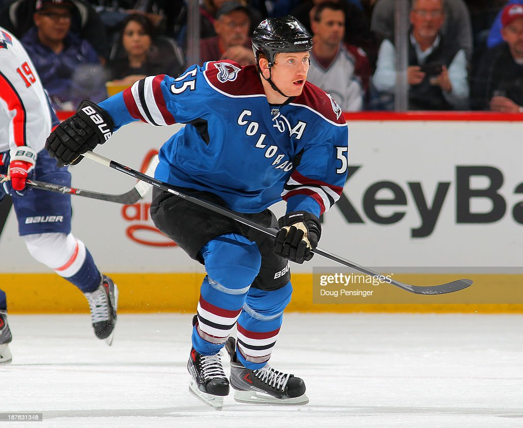 Cody McLeod of the Colorado Avalanche skates against the Washington Capitals at Pepsi Center on November 10 2013 in Denver Colorado The Avalanche...