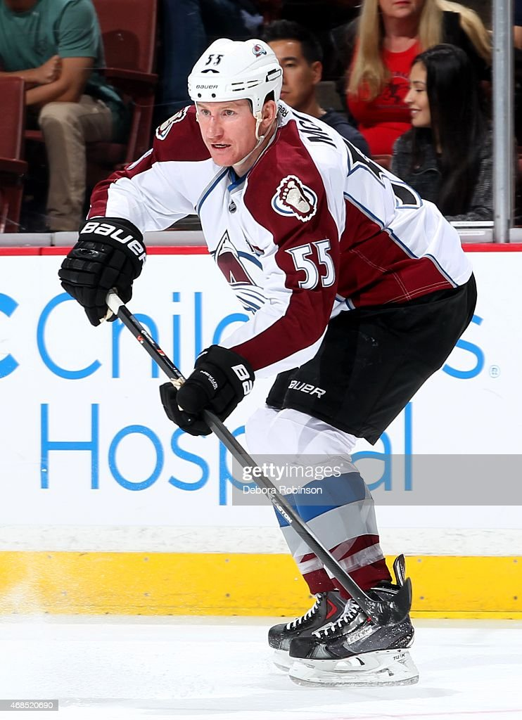 Cody McLeod of the Colorado Avalanche skates during the game against the Anaheim Ducks on March 20 2015 at Honda Center in Anaheim California