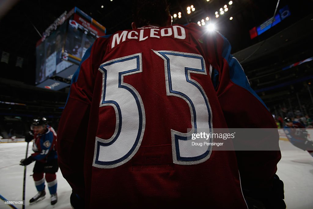 Cody McLeod of the Colorado Avalanche warms up prior to facing the Nashville Predators at Pepsi Center on April 7 2015 in Denver Colorado The...