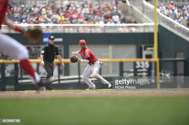 Cody Ramer of the University of Arizona looks to throw against Coastal Carolina University during Game 3 of the Division I Men's Baseball...