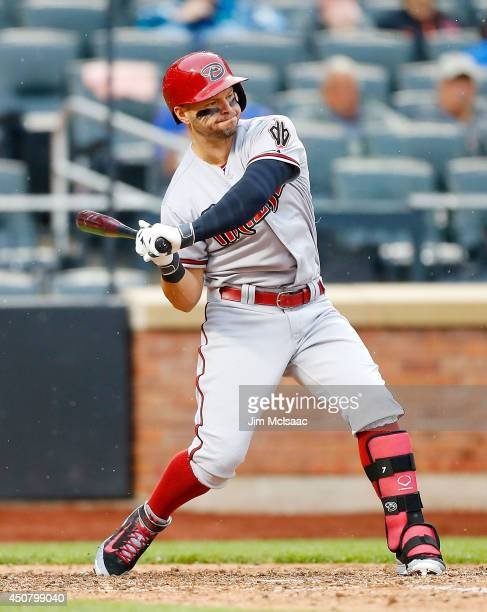 Cody Ross of the Arizona Diamondbacks in action against the New York Mets at Citi Field on May 24 2014 in the Flushing neighborhood of the Queens...