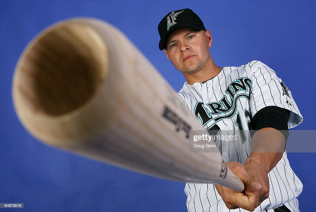 Cody Ross #12 of the Florida Marlins poses during photo day at Roger Dean Stadium February 22, 2009 in Jupiter, Florida.