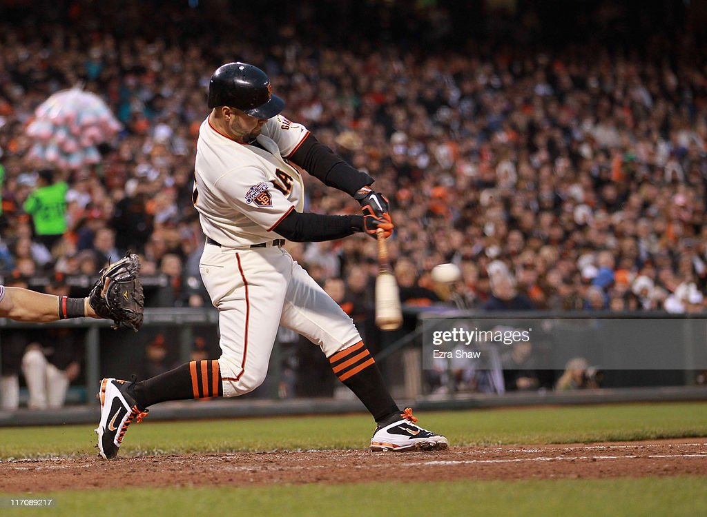 <a gi-track='captionPersonalityLinkClicked' href=/galleries/search?phrase=Cody+Ross&family=editorial&specificpeople=545810 ng-click='$event.stopPropagation()'>Cody Ross</a> #13 of the San Francisco Giants bats against the Cincinnati Reds at AT&T Park on June 9, 2011 in San Francisco, California.