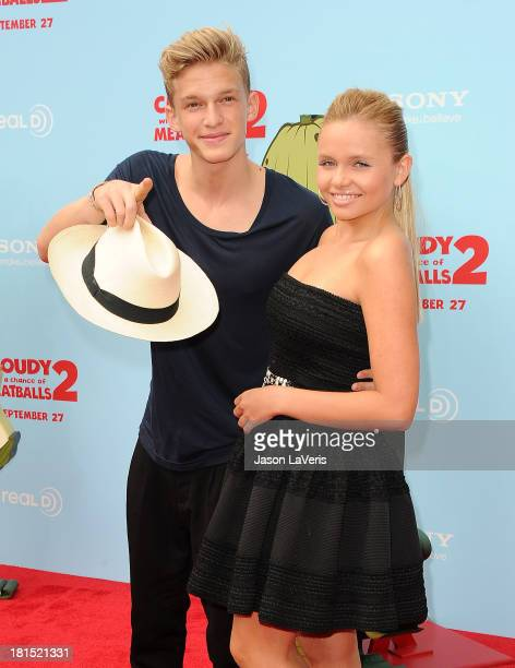 Cody Simpson and Alli Simpson attend the premiere of 'Cloudy With a Chance of Meatballs 2' at Regency Village Theatre on September 21 2013 in...
