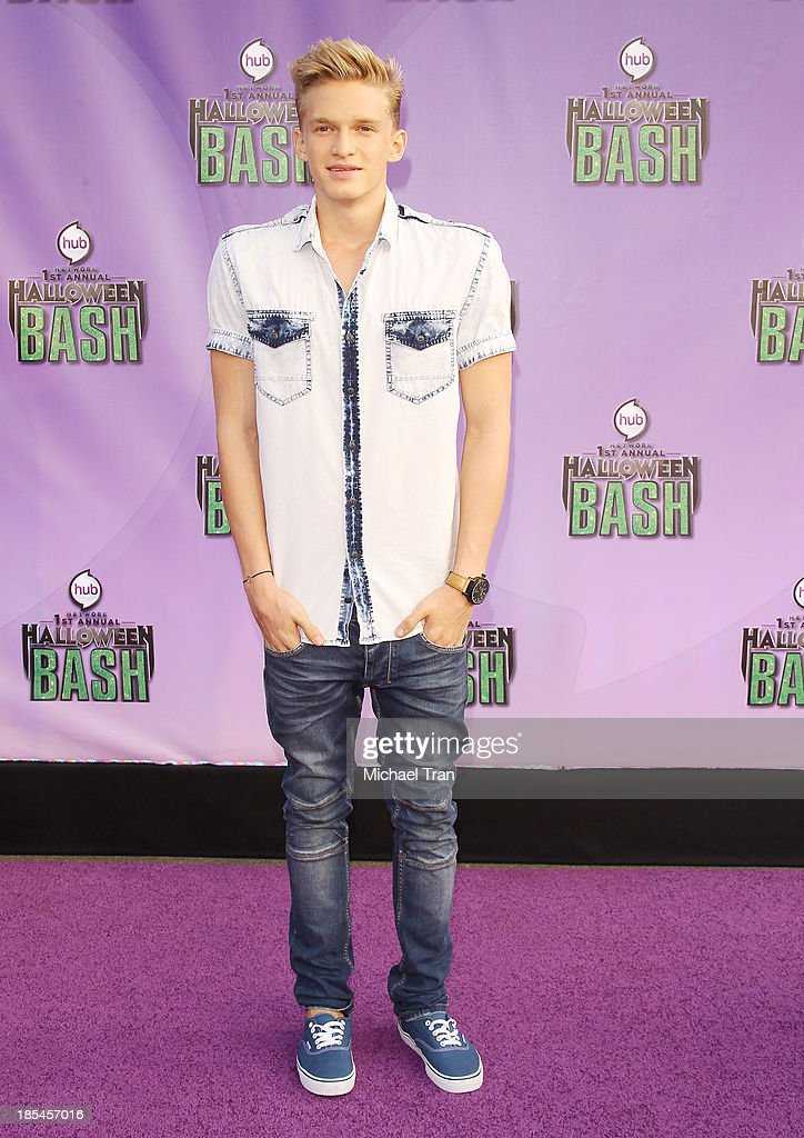 <a gi-track='captionPersonalityLinkClicked' href=/galleries/search?phrase=Cody+Simpson&family=editorial&specificpeople=7068455 ng-click='$event.stopPropagation()'>Cody Simpson</a> arrives at Hub Network's 1st Annual Halloween Bash held at Barker Hangar on October 20, 2013 in Santa Monica, California.