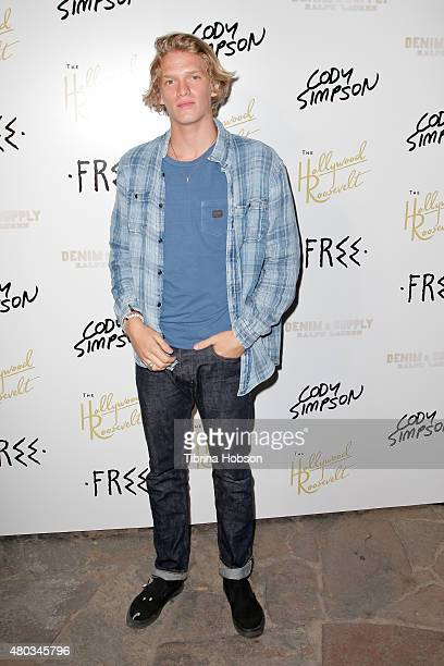 Cody Simpson attends his album party for 'Free' at Tropicana Bar at The Hollywood Roosevelt Hotel on July 10 2015 in Hollywood California