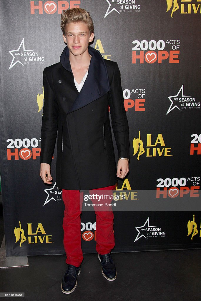 Cody Simpson attends the 5th annual Holiday Tree Lighting at L.A. LIVE & opening of LA Kings Holiday Ice held at Nokia Plaza L.A. LIVE on November 28, 2012 in Los Angeles, California.
