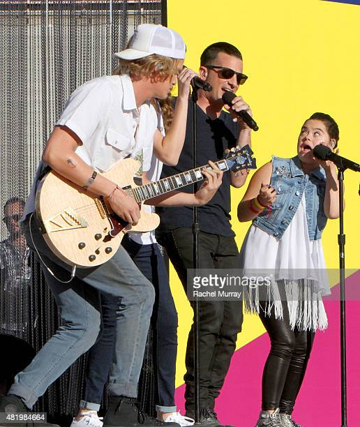 Cody Simpson Bree Bogucki Marc Roberge of OAR and Madison Tevlin open the 2015 Los Angeles Special Olympics World Games by performing the CocaCola...