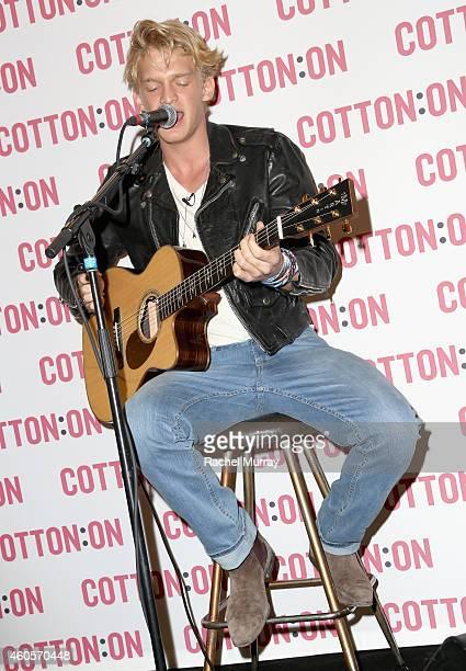 Cody Simpson Celebrates 'I Give A Brick' Campaign at Cotton On on December 16 2014 in Santa Monica California