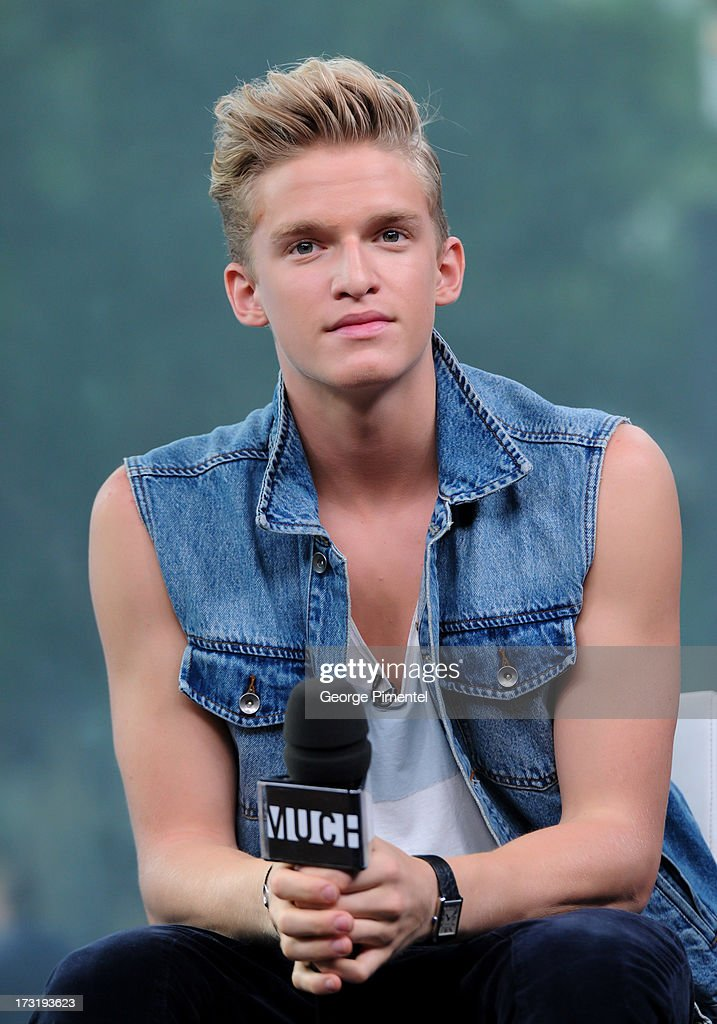 Cody Simpson co-hosts NEW.MUSIC.LIVE. at MuchMusic Headquarters on July 9, 2013 in Toronto, Canada.