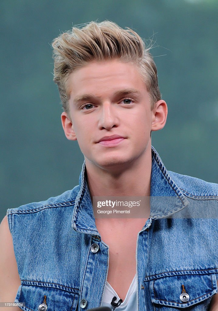 <a gi-track='captionPersonalityLinkClicked' href=/galleries/search?phrase=Cody+Simpson&family=editorial&specificpeople=7068455 ng-click='$event.stopPropagation()'>Cody Simpson</a> co-hosts NEW.MUSIC.LIVE. at MuchMusic Headquarters on July 9, 2013 in Toronto, Canada.