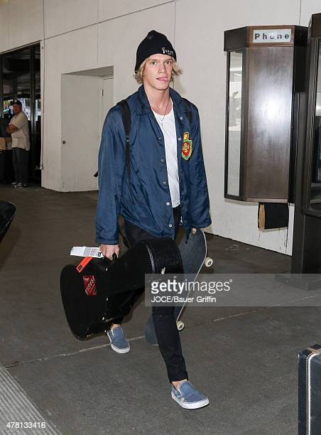Cody Simpson is seen arriving at LAX on June 22 2015 in Los Angeles California