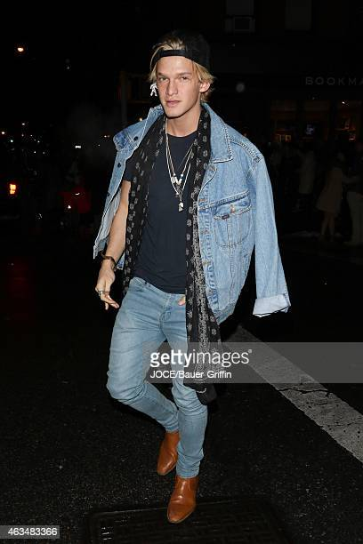 Cody Simpson is seen in New York City on February 14 2015 in New York City