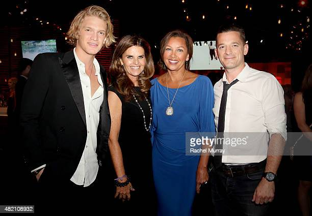 Cody Simpson Maria Shriver Vanessa Williams and OAR's Marc Roberge attend the 'CocaCola and ESPN Celebration Of The Human Spirit Of Eunice Kennedy...