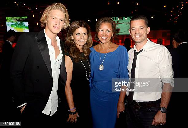 Cody Simpson Maria Shriver Vanessa Williams and OAR's Marc Roberge attend 'CocaCola and ESPN Celebration Of The Human Spirit Of Eunice Kennedy...