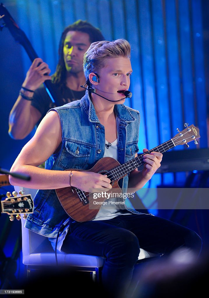 Cody Simpson performs on NEW.MUSIC.LIVE. at MuchMusic Headquarters on July 9, 2013 in Toronto, Canada.