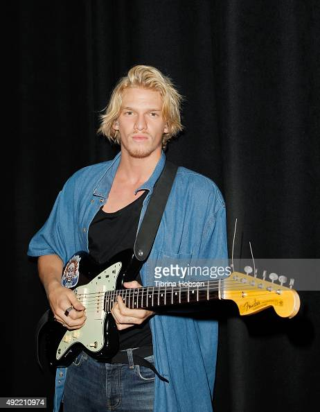 Cody Simpson poses for a photo before his performance at El Rey Theatre on October 10 2015 in Los Angeles California