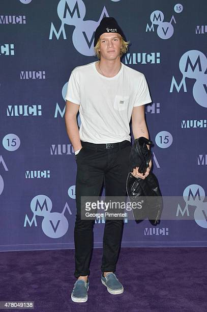 Cody Simpson poses in the press room at the 2015 MuchMusic Video Awards at MuchMusic HQ on June 21 2015 in Toronto Canada