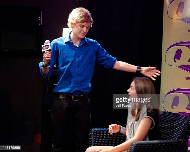 Cody Simpson sings Happy Birthday to a fan at the WIOQ Xfinity Performance Theater on April 25 2011 in Bala Cynwyd Pennsylvania