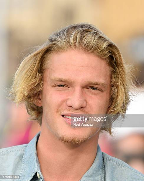Cody Simpson visits 'Extra' at Universal Studios Hollywood on July 8 2015 in Universal City California