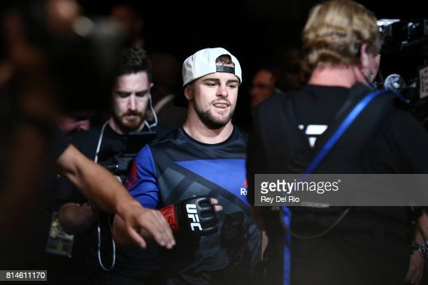 Cody Stamann enters the Octagon before facing Terrion Ware during the UFC 213 event at TMobile Arena on July 9 2017 in Las Vegas Nevada