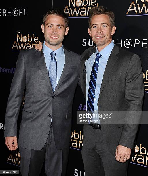 Cody Walker and Caleb Walker attend the 3rd annual Noble Awards at The Beverly Hilton Hotel on February 27 2015 in Beverly Hills California