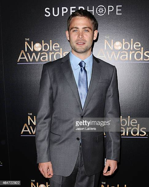 Cody Walker attends the 3rd annual Noble Awards at The Beverly Hilton Hotel on February 27 2015 in Beverly Hills California