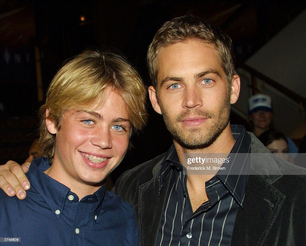 <a gi-track='captionPersonalityLinkClicked' href=/galleries/search?phrase=Cody+Walker+-+Actor&family=editorial&specificpeople=12755342 ng-click='$event.stopPropagation()'>Cody Walker</a> with his brother actor Paul Walker pose during the film premiere of 'Timeline' at the Mann's National Theatre on November 19, 2003 in Westwood, California. The film 'Timeline' will be released on November 26, 2003.