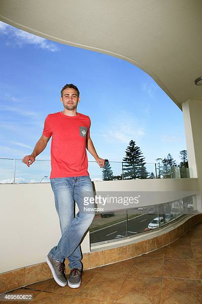 Cody Walker younger brother of the late American actor Paul Walker poses after press conference at Bellagio by the Sea Collaroy in Sydney New South...