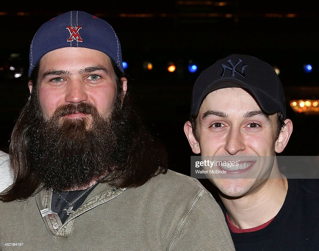 Cody Williams (R) with Jep Robertson from 'Duck Dynasty' visit 'Cinderella' On Broadway>> at the Broadway Theatre on November 26, 2013 in New York City.