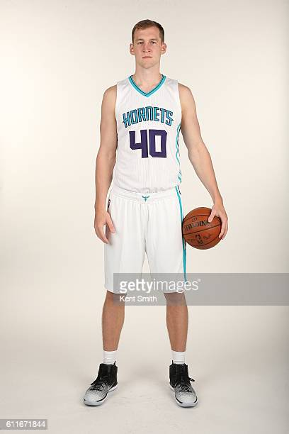 Cody Zeller of Charlotte Hornets poses for Media Day Portraits at the Time Warner Cable Arena on September 26 2016 in Charlotte North Carolina NOTE...