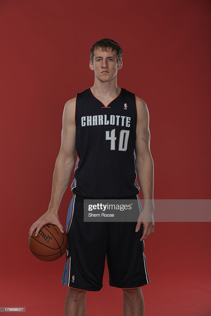 Cody Zeller #40 of the Charlotte Bobcats poses for a portrait during the 2013 NBA rookie photo shoot on August 6, 2013 at the Madison Square Garden Training Facility in Tarrytown, New York.