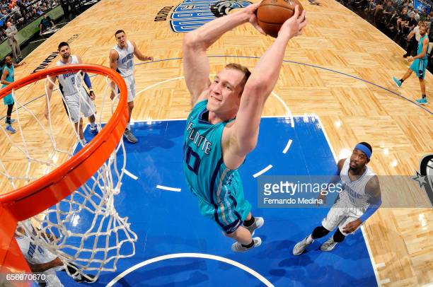 Cody Zeller of the Charlotte Hornets dunks against the Orlando Magic on March 22 2017 at Amway Center in Orlando Florida NOTE TO USER User expressly...