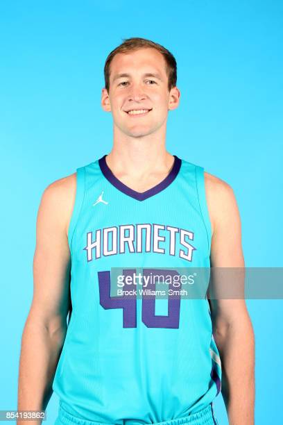 Cody Zeller of the Charlotte Hornets poses for a head shot during media day at Spectrum Center in Charlotte North Carolina NOTE TO USER User...