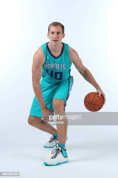 Cody Zeller of the Charlotte Hornets poses for a portrait during media day on September 25 2017 at Spectrum Center in Charlotte North Carolina NOTE...