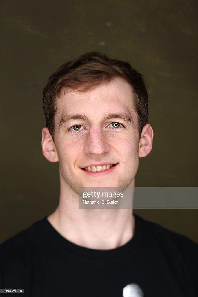 Cody Zeller of the Charlotte Hornets poses for portraits during the NBAE Circuit as part of 2015 All-Star Weekend at the Sheraton Times Square Hotel on February 12, 2015 in New York, New York.