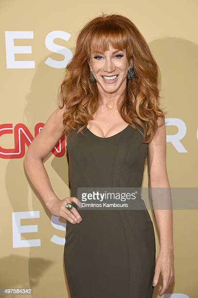Coemedian Kathy Griffin attends CNN Heroes 2015 Red Carpet Arrivals at American Museum of Natural History on November 17 2015 in New York City...