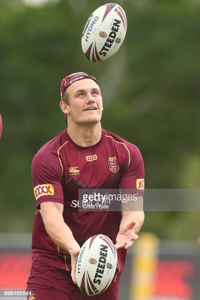 Coen Hess during a Queensland Maroons State of Origin training session at Intercontinental Sanctuary Cove Resort on June 16 2017 in Brisbane Australia