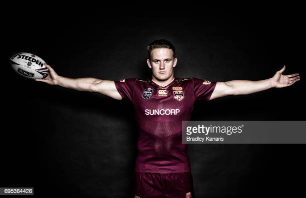 Coen Hess poses for a photo during a Queensland Maroons State of Origin media session at the Rydges Hotel on June 13 2017 in Brisbane Australia