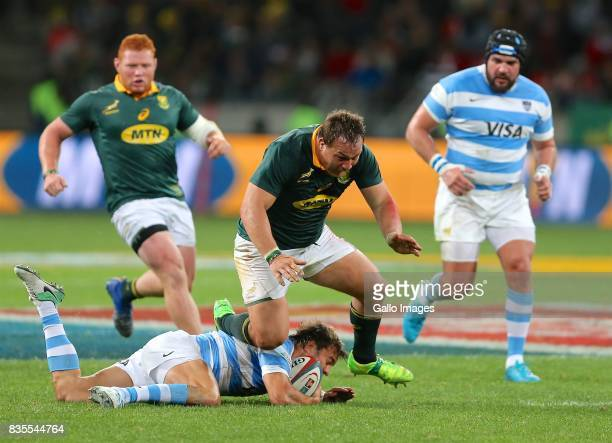 Coenie Oosthuizen of South Africa during the Rugby Championship match between South Africa and Argentina at Nelson Mandela Bay Stadium on August 19...