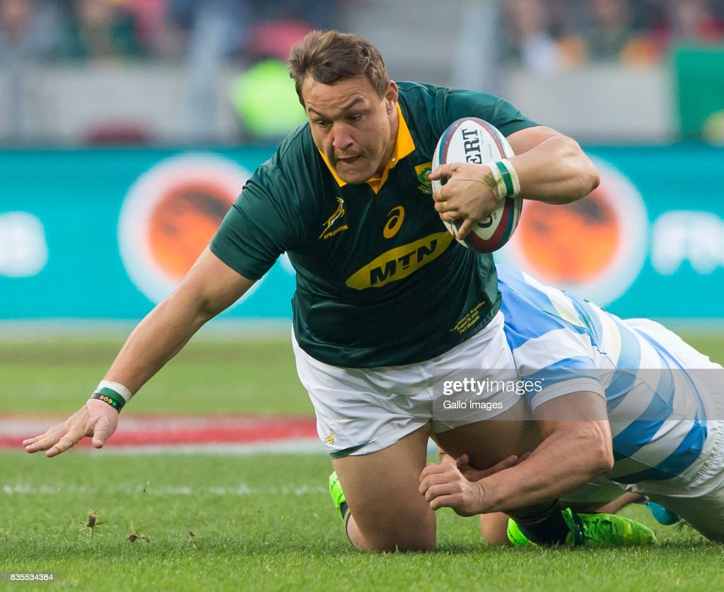 Coenie Oosthuizen of the Springbok Team during the Rugby Championship match between South Africa and Argentina at Nelson Mandela Bay Stadium on August 19, 2017 in Port Elizabeth, South Africa.