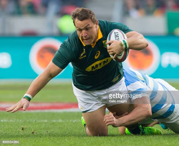 Coenie Oosthuizen of the Springbok Team during the Rugby Championship match between South Africa and Argentina at Nelson Mandela Bay Stadium on...