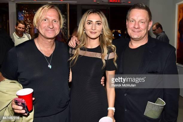 Coerte Felske Esse de Kwiatkowski and Stephan de Kwiatkowski attend IV New York Gallery Grand Opening Exhibition on September 14 2017 in New York City