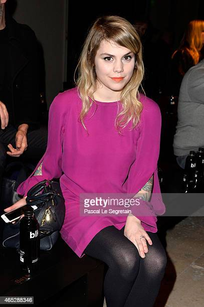 Coeur de Pirate attends the Barbara Bui show as part of the Paris Fashion Week Womenswear Fall/Winter 2015/2016 on March 5 2015 in Paris France