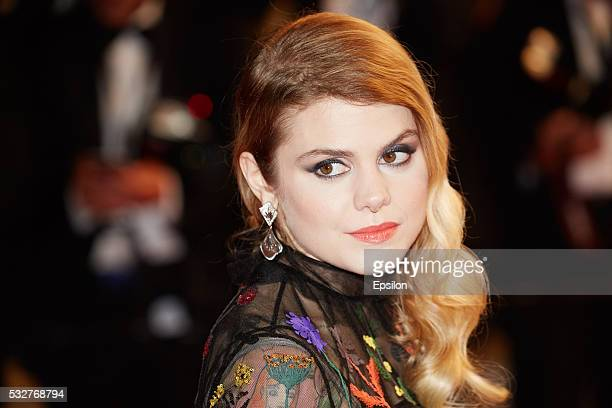 Coeur De Pirate attends the screening of 'It's Only The End Of The World ' at the annual 69th Cannes Film Festival at Palais des Festivals on May 19...