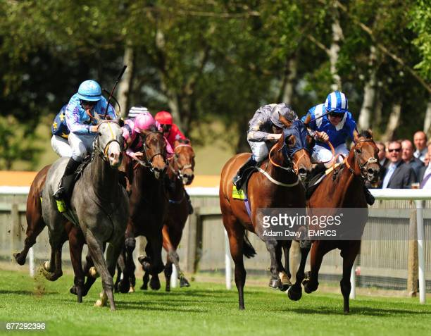 Coeus ridden by David Probert comes through the field to win the totesportcom Stakes